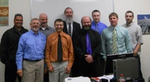 Front Left: Joe Bury, NTI HVAC Instructor, with Advisory Committee members