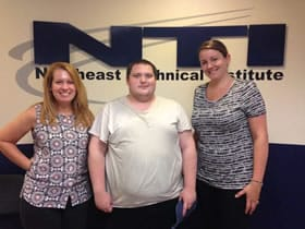 Carol, George and Youth Services Counselor, Rebekah Bossie at Northeast Technical Institute